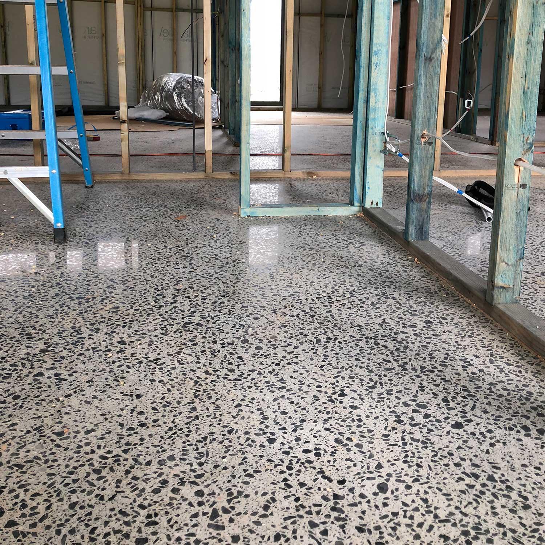 New Home Concrete Polishing by Burke Concrete Resurfacing