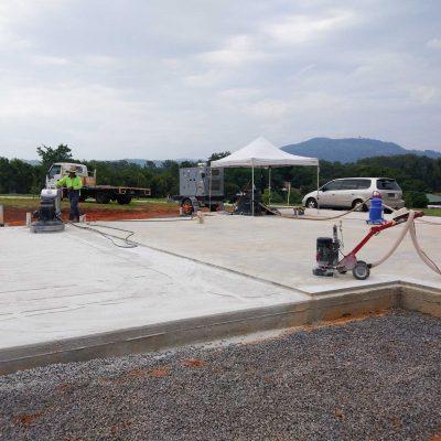 New Home Concrete Polishing by Burke Concrete Polishing