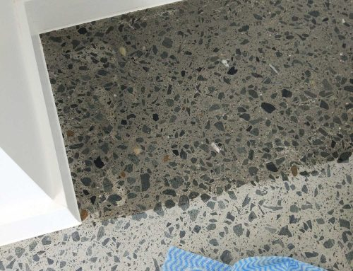 New Home Indoor Concrete Polish with Grow In The Dark Gems in Helensvale, Gold Coast