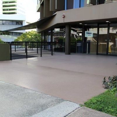 Outdoor Epoxy by Burke Concrete Polishing