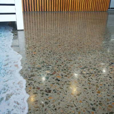 Restaurant Concrete Floor Polish by Burke Concrete Polishing
