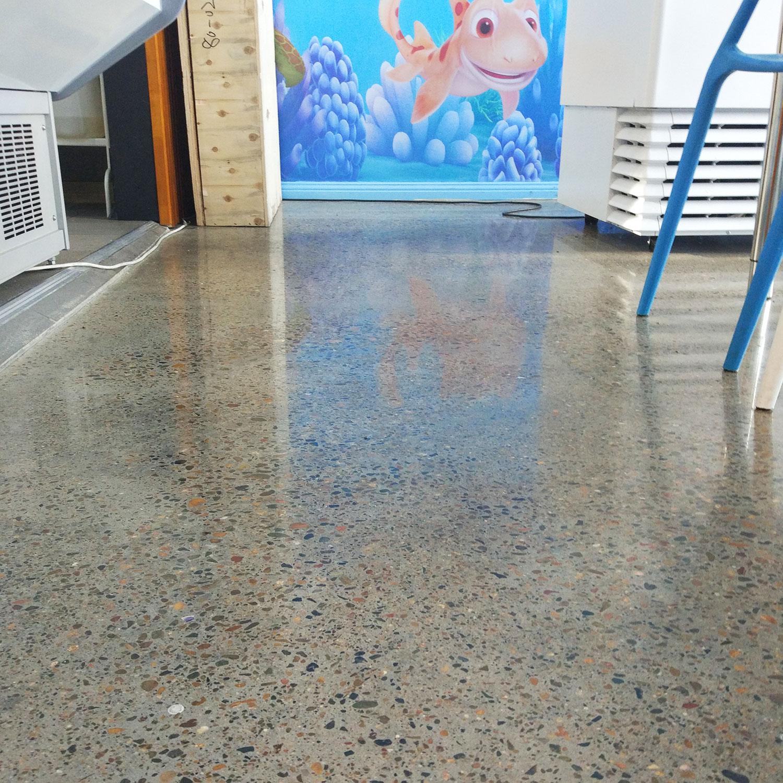 Restaurant Concrete Floor Polish by Burke Concrete Resurfacing