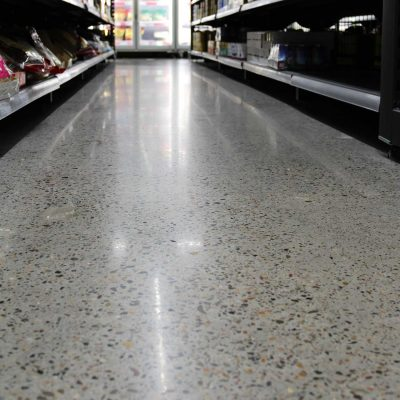 Supermarket Concrete Floor Polish by Burke Concrete Polishing