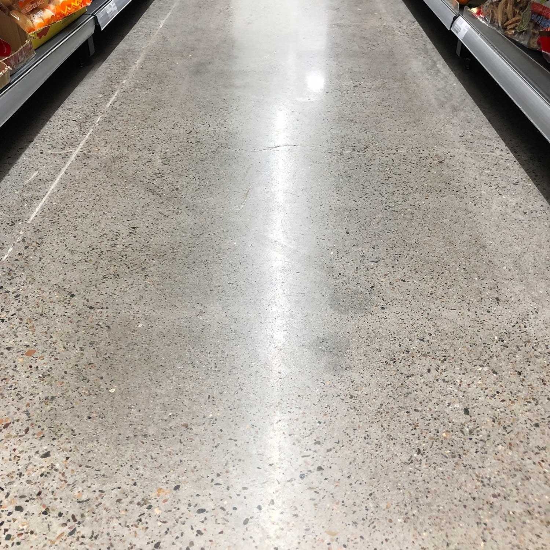 Supermarket Concrete Floor Polish by Burke Concrete Resurfacing