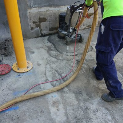 Carpark Space Concrete Grinding in Indooroopilly Shopping Centre by Burke Concrete Polishing