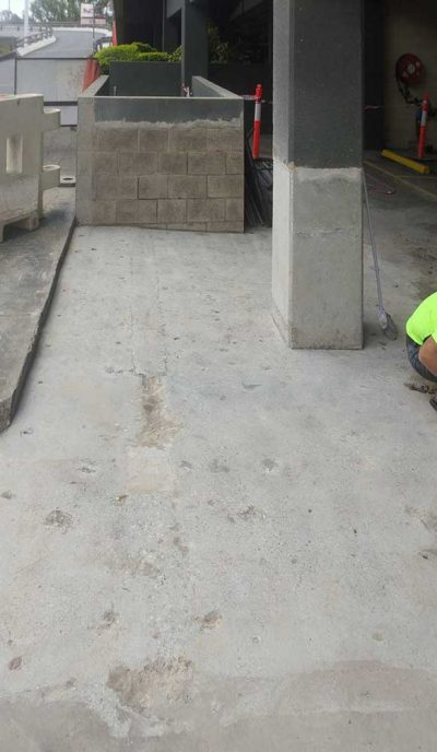 Carpark Space Concrete Grinding in Indooroopilly Shopping Centre by Burke Concrete Resurfacing