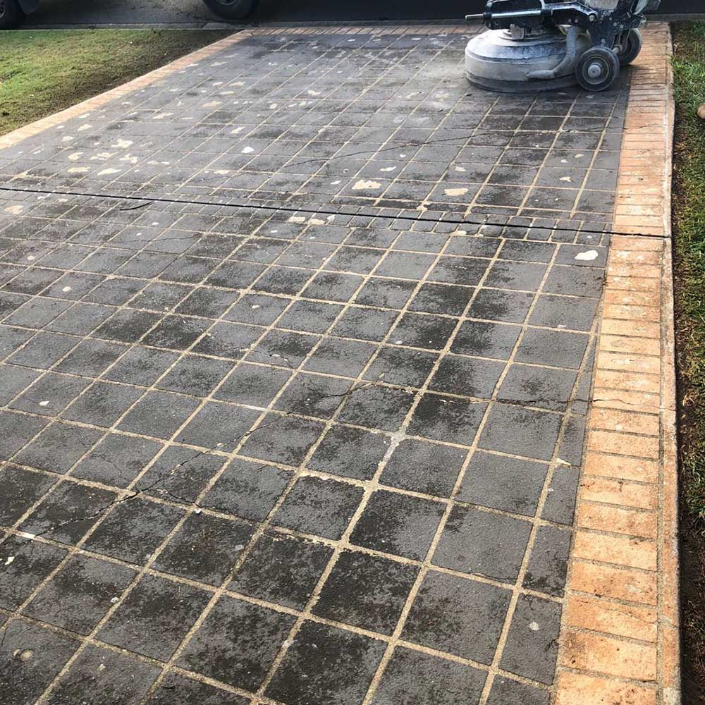 Residential Driveway Grind and Seal in Wynnum West by Burke Concrete Resurfacing