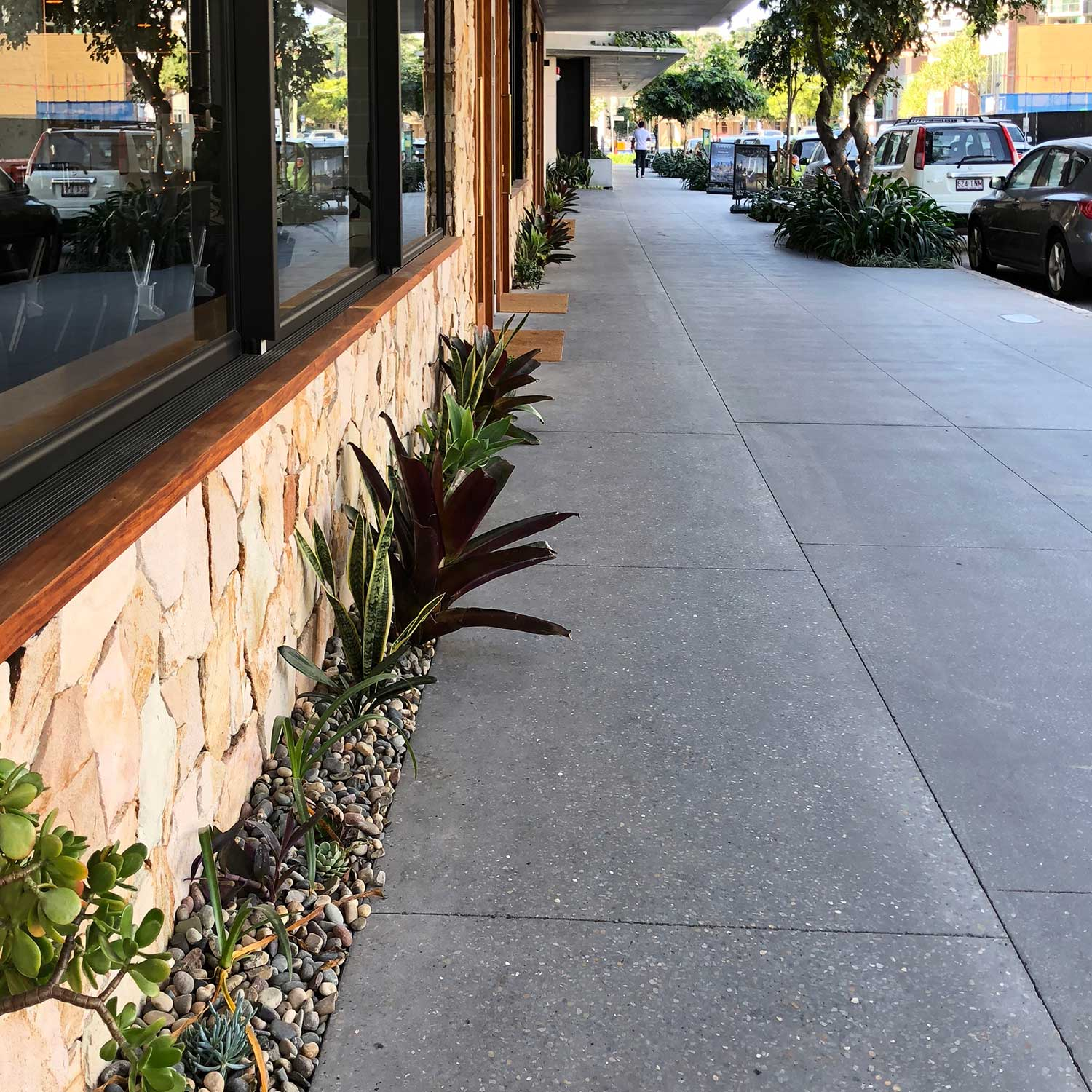 Campos Coffee Newstead Concrete Grinding with Polyurethane by Burke Concrete Resurfacing