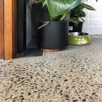 Campos Coffee Newstead Concrete Grinding with Polyurethane by Burke Concrete Polishing